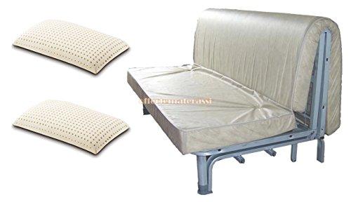 EFFETTO CASA Materasso per Divano Letto 160X190 PRONTOLETTO con Piega su Seduta (Materasso + 2 guanciali Lattice)