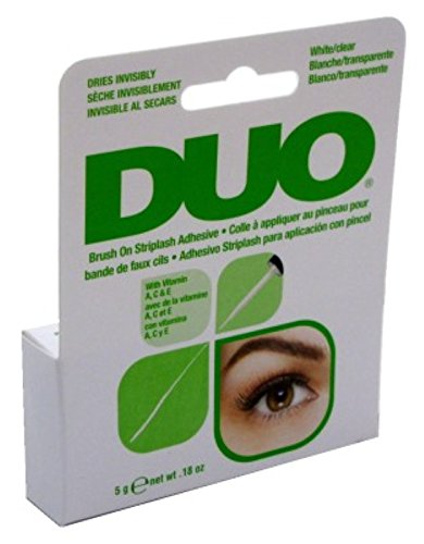 Duo Brush-On Adhesive White/ Clear W/Vitamins A-C-E 0.18oz (6 Pack) by Duo