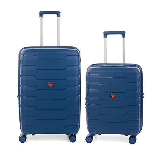 RONCATO Skyline set 2 maletas rígidas ampliables (medio + cabina) Azul marino