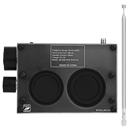 Receptor DSP SDR HAM, módulo receptor de radio 50kHz-200MHz, 400MHz-2GHz con pantalla táctil IPS de 3,5 pulgadas, placa PCB de componentes electrónicos para STM32H743((Negro))
