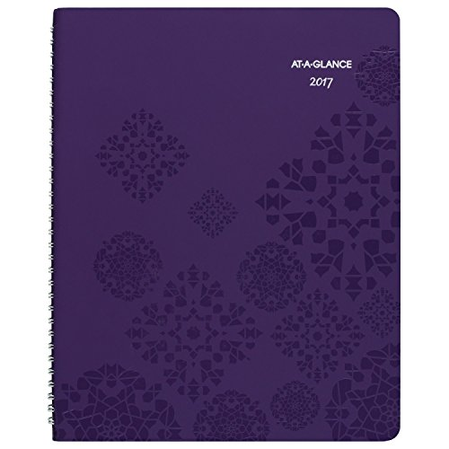 """AT-A-GLANCE Weekly / Monthly Appointment Book / Planner 2017, Premium, 8-1/2 x 11"""", Purple (584-905)"""