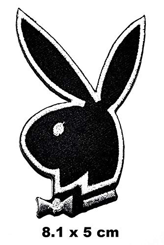 Playboy Bunny Conejo parche Hierro en Logo Chaleco Chaqueta con capucha Mochila Parche Parche Hierro Onsew en parche Apliques Recuerdo Accesorio