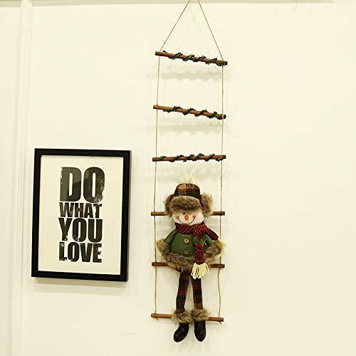 SDJ Kerstmis Decoraties Klimmen Touw Ladders Opknoping Snowman Oude Hotel Raam Winkelen Charm Hanger B