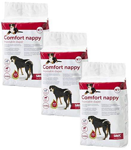 36er Sparpack Hundewindel Einwegwindel Hunde Comfort Nappy Größe 7 (Taillenumfang: 74-84 cm)
