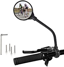 TAGVO Bike Mirror, Bicycle Wide Angle Rear View Safe Mirrors, 360 Degree Adjustable Rotatable Handlebar Mounted Convex Mirror for Mountain Road Bike Cycling