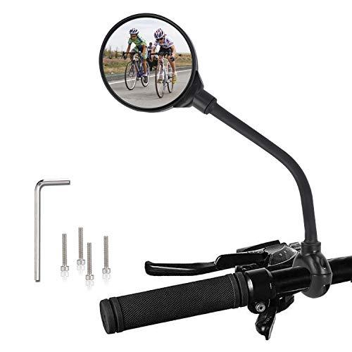 TAGVO Specchietti Bici, Specchietto da Bicicletta Grandangolari, 360 Gradi Regolabile Ruotabile Specchio Convesso Montato sul Manubrio per la Montagna Strada Bicicletta Ciclismo (2 Pezzi)
