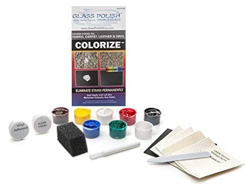 Kit di riparazione per pelle, vinile, tessuto e moquette, per macchie, scolorimento e usura