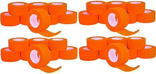 Fingerverband, Fingerpflaster, Selbsthaftende Fingerbandagen 2,5 cm, neon orange - 24 Rollen