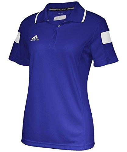 adidas Damen Team Sport Polo, Damen, Collegiate Royal/White, Small