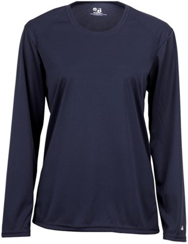 Badger Sportswear Ladies' BDry Long Sleeve TShirt, M, Navy