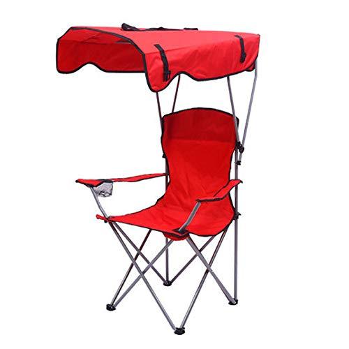 FACAI Silla De Playa Plegable Portátil Al Aire Libre Silla De Playa Plegable De Tela Oxford Silla De Descanso Silla De Pesca con Sombrilla,Red
