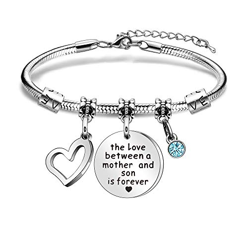 Mother Snake Bracelets Adjustable Bangle Mum Jewellery From Son Mothers Day Christnmas The Love Between A Mother And Son Is Forever