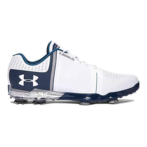 Under Armour Men's UA Spieth One Golf Shoes White/Steel/Academy 7.5 M