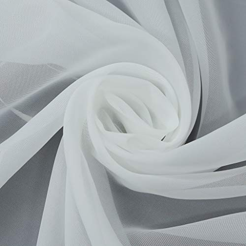 Raffrollo Ösenrollo Kessy Biese transparent Voile Rollos Weiß B*H 80*150 - 4