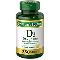 350-Count Natures Bounty Vitamin D3 2000 IU Rapid Release Softgels