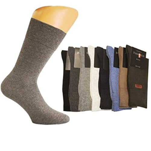 Art-of-Baan e.Kfr. 9 Paar Herren Socken, ohne Gummi, schwarz, Größe 39-42 A-6511