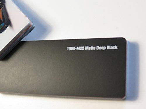 3M (27,8€/m2) Scotchprint Wrap Film Series 1080 Matt Tief Schwarz gegossene Autofolie 200 x 152 cm Zuschnitt