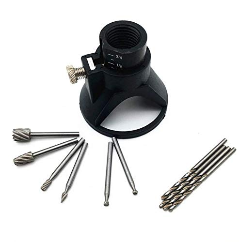 Metal HSS Router Tool Cutting Guide Attachment Kit Drill Carving Rotary Locator
