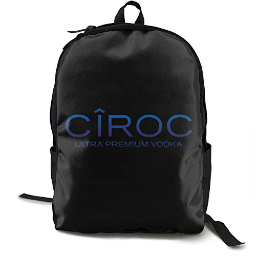 Ciroc Vodka Sac à dos, sac à dos pour l'école, le travail et l'université, sac à dos de sport et cartable avec compartiment pour ordinateur portable et dos rembourré