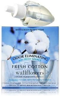 【Bath&Body Works/バス&ボディワークス】 ルームフレグランス 詰替えリフィル(2個入り) 消臭効果付き フレッシュコットン Wallflowers Home Fragrance 2-Pack Refills Odor eliminating Fresh Cotton [並行輸入品]