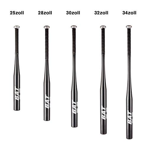 Pre&Mium Aluminum Baseballschläger Baseball Bat mit Rutschfestem Griff Schwarz Verschiedene Größe(25''/28''/30''/32''/34'') (28 Zoll) …