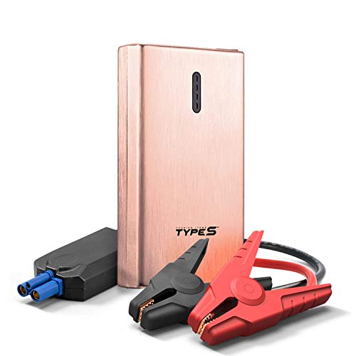 TYPE S Portable Car Jump Starter 8000mAh Power Bank 350A Peak Battery for 12V Car Vehicle Motorcycle AC56388-ROSE