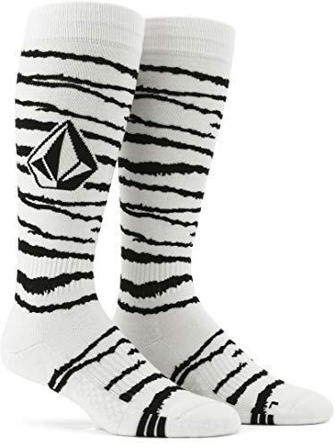 Volcom Herren Lodge Socken zum Snowboarden, weißer Tiger, X-Large