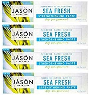 Jason All-Natural Toothpaste, Sea Fresh - 6 oz - 4 pk