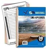 SR Baseball/Softball Line-Up Cards 30 Games