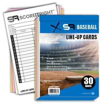 SR Baseball/Softball Line-Up Cards 30 Games