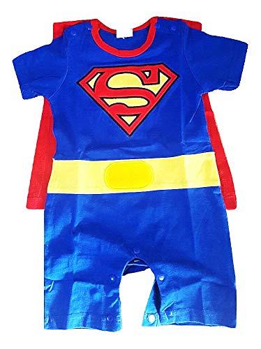 Tutinabebe - babyjongen - superman kostuum - romper - zomer - korte mouwen - cape - katoen - origineel geschenkidee