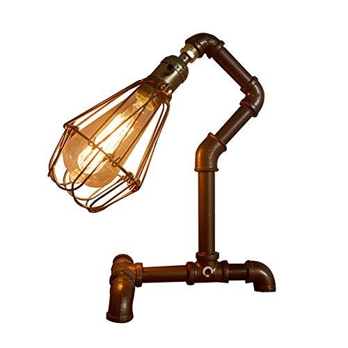Lámparas de mesita de noche, lámpara de mesa, personalidad, estilo estadounidense, lámpara de mesa, lámpara de mesa decorativa creativa, lámpara de noche, diseño de botón de conmutación de metal