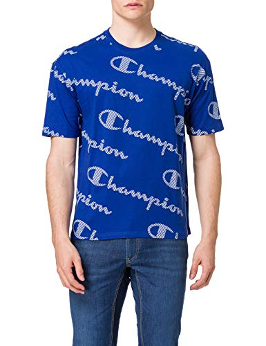 Champion Seasonal AC Logo Allover Crewneck T-Shirt Camiseta para Hombre