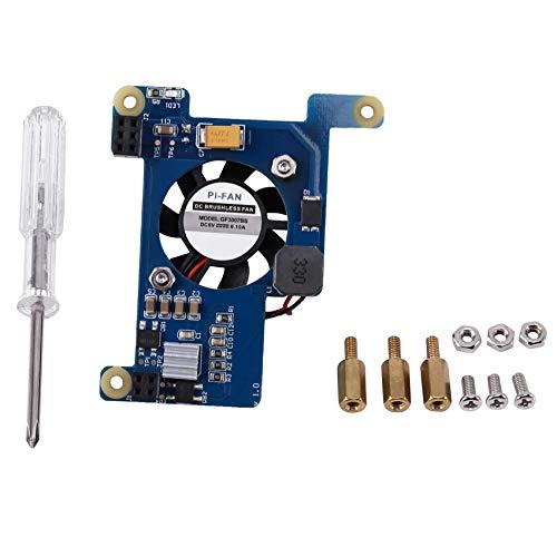 Adecuado para Raspberry Pi 4B / 3B + Módulo HAT Power Over Ethernet (PoE) con ventilador de refrigeración para Raspberry Pi 4B / 3B +