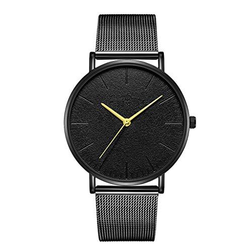 Leedy - Reloj de pulsera analógico para mujer, mecanismo de cuarzo, malla de acero inoxidable, ultrafino, reloj de pulsera analógico de cuarzo, regalo F Talla única