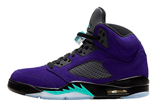 "Jordan Men's Retro 5""Alternate Grape Grape Ice/New Emerald-Black (136027 500) - 10"