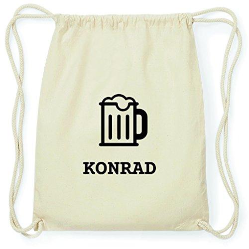 JOllify Turnbeutel - Happy Birthday - für Konrad - Bier Gruß