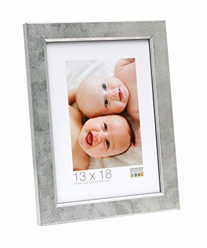 Deknudt Frames S45DD1 9 x 13 Cornice Grigio Argento di Legno