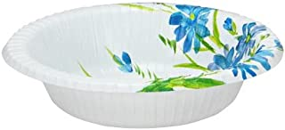 Nicole Home Collection 35 Snack Paper Bowl, 12-Ounce, Blue/Floral