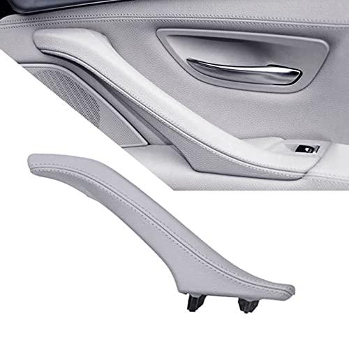 Qwldmj LHD RHD Conjunto de manija de Tirador de Cuero para Puerta Interior Izquierda Derecha para BMW 5 Series F10 F11 F18 520i 523i 525i 528i 535i