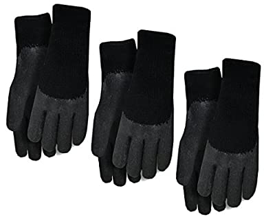 Midwest Gloves & Gear 3-Pack Textured Rubber Knit Glove