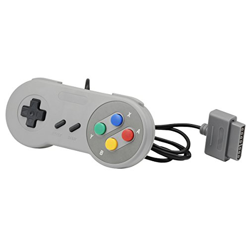 QUMOX Controller für Super Nintendo System Control Pad Gamepad für SNES Grey