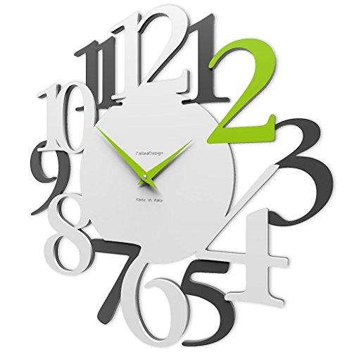 orologio kartell CalleaDesign 45 cm Orologio da Parete Russell Verde Mela