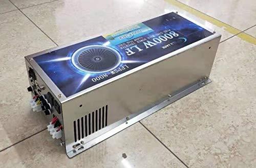 DC 48V 8000W LF Split Phase Pure Sine Wave Power Inverter DC 48V to AC 110V and 220V 60Hz, with 110V BTY Charger Function, Peak Power 32000W