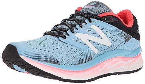 New Balance Chaussures Fresh Foam W1080 pour Femmes, 45 EUR - Width 2A, Light Blue/Vivid Coral