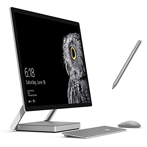 "Microsoft Surface Studio All-in-one 28"" 4500x3000 Touchscreen, i5, 8GB RAM, 64GB SSD+1TB HDD AIO PC, 4 Cores up to 3.50 GHz CPU, GTX 965M, Webcam, Surface Pen, Keyboad, Mouse, Win 10 Pro (Renewed)"