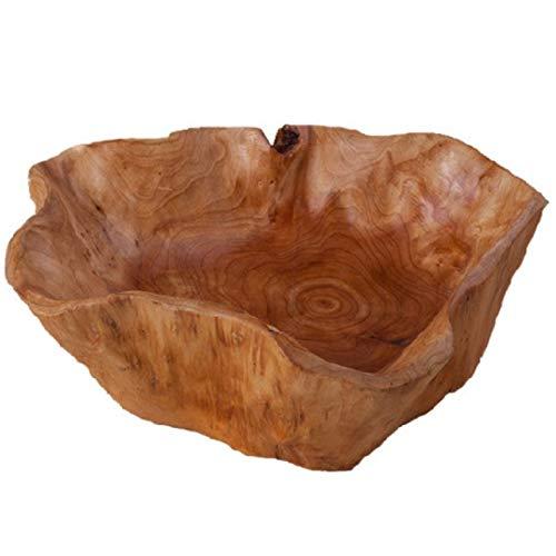 RETYLY Hushåll fruktskål trä godisskål frukttallrik trä snideri rot frukt tallrik trä 20–24 cm