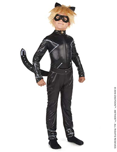 Vegaoo Costume Miraculous Chat Noir Bambino - S 5-6 Anni (105-116 cm)