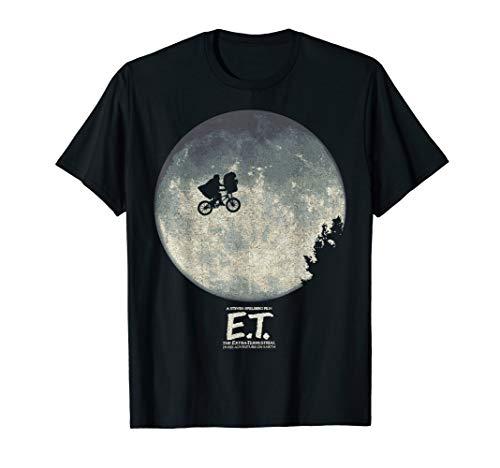 E.T. Infamous Flying Bike Scene Silhouette Logo T-Shirt