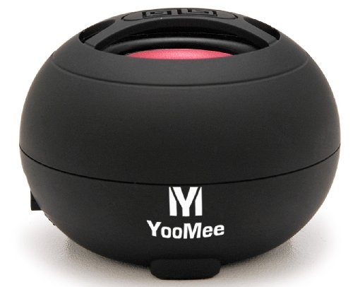 Black BEAT51 Portable Travel-size Mini Speaker for Apple iPhone 4g, iPad, iPod Touch, Other MP3 Players, Cellular Phones, PC Computers, and Tablet PC (Black)